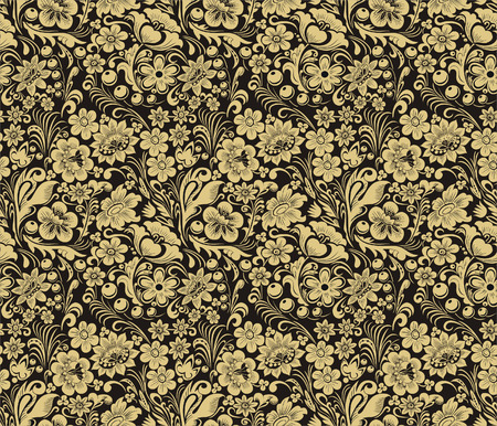 Vector seamless pattern in traditional Russian style. Design element. Illustration