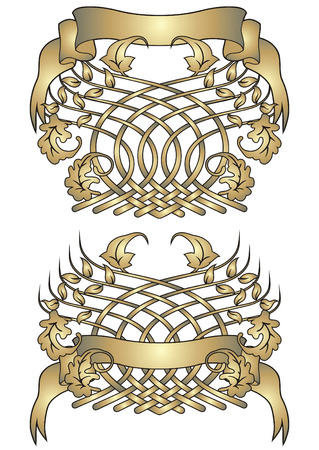 blazonry: Vector blazon in heraldic stylization. Illustration