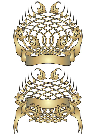 Vector blazon in heraldic stylization. Stock Vector - 5450075