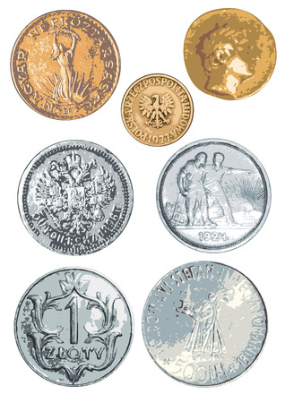 magyar: Separate coins of the various countries and times