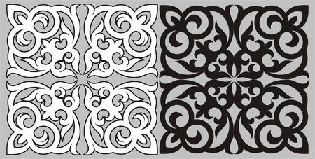 kazakhstan: Pattern in traditional national style of Kazakhstan. A design element.