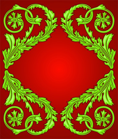 Decorating frame from vegetative elements. A design element. Stock Vector - 7118336