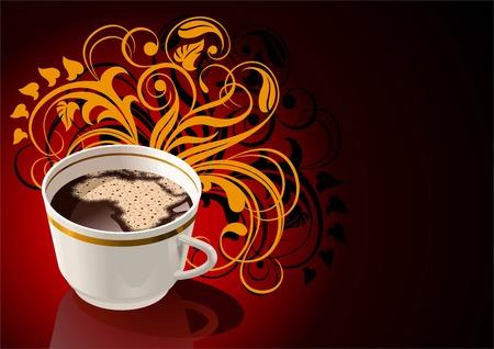 continente africano: Taza de café con espuma de mar en la forma del continente africano.