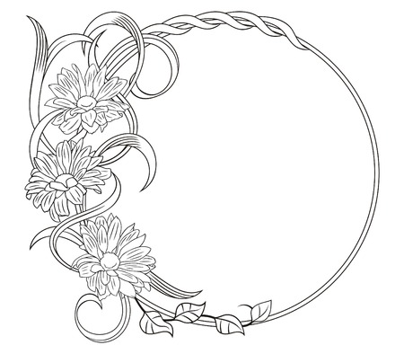 Elegant kader met een vegetatieve patroon. Een decoratief element.