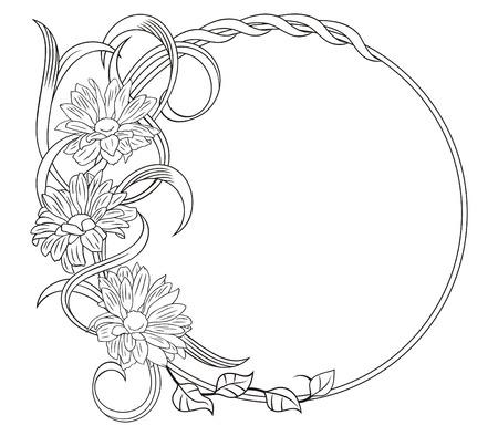 de lis: Marco elegante con un patr�n vegetativo. Un elemento decorativo.