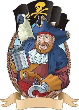 scar: Het symbolische beeld van de gentleman van goed geluk. Stock Illustratie