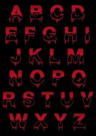 ligature: Latin symbol font with drop Illustration