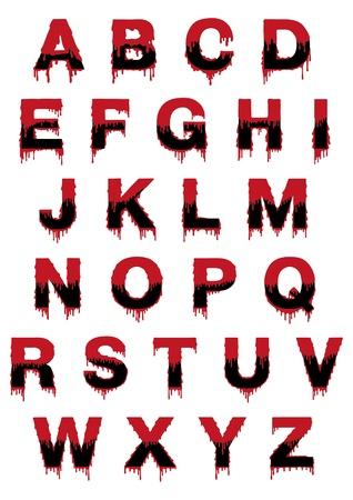 Latin symbol font with drop Stock Vector - 10770840
