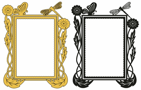 Two variant of design of a patten frame. Vector