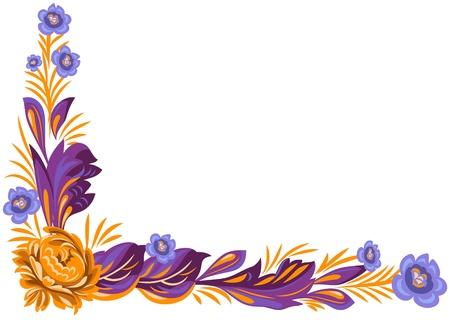 Vector ornamento floreale in stile tradizionale