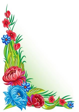 Vector ornamento floreale in stile tradizionale con uno sfondo d'epoca