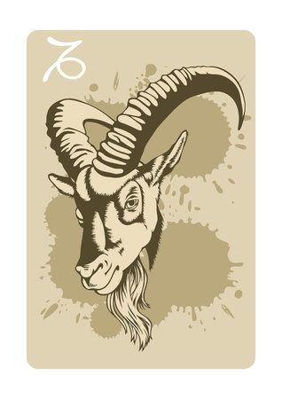 sign of the capricorn Illustration