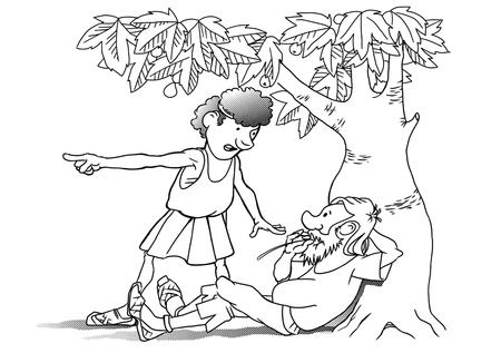 parable: Illustration based on a biblical parable