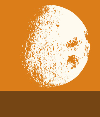 Background image of the moon. Vector illustration. Illustration