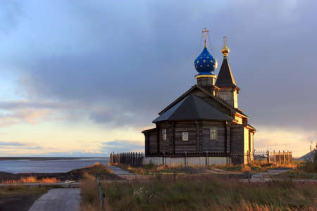 Holy Epiphany Church in the village of Khatanga, Krasnoyarsk Territory. Holy Epiphany Church is a historical landmark of the village of Khatanga. This is the northernmost Orthodox church in the world.