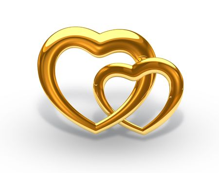 gold heart photo