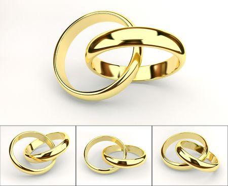 gold rings: weddings rings