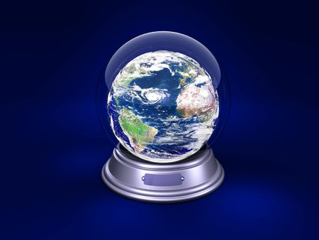inwardly: earth is in a glass ball Stock Photo