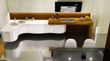 Modern kitchen interior, 3D render Stock Photo - 6270810