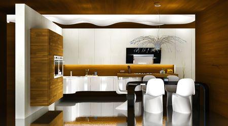 Modern kitchen interior, 3D render Stock Photo - 6270775