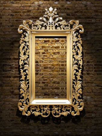 classical style: Retro Revival Old Gold Frame