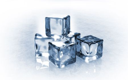 Side view of ice cubes Stock Photo - 6597537