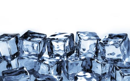 Side view of ice cubes photo