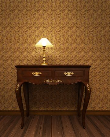 Old antique table from precious wood Stock Photo - 6699046