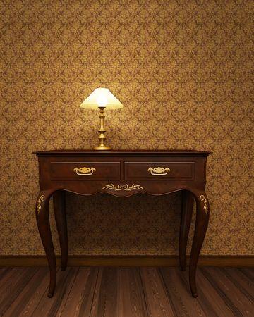 antiek behang: Oude antieke tafel van kostbare hout