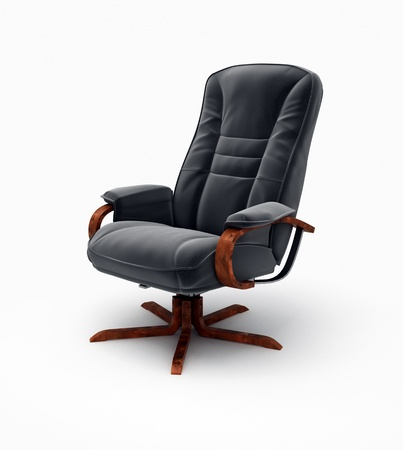 office chairs: Black office armchair isolated on white background