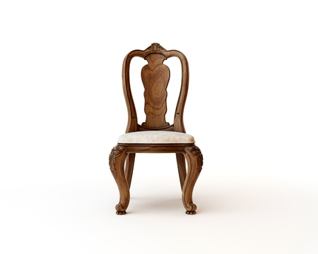 3d render of antique chair photo