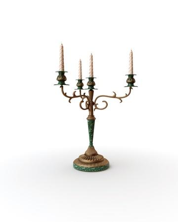 Old-fashioned baroque elegant candle Stock Photo - 8487790