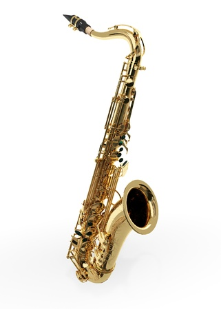 Alto sax against white background Stock Photo - 9509056