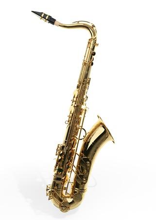 Alto sax against white background Stock Photo - 9509055
