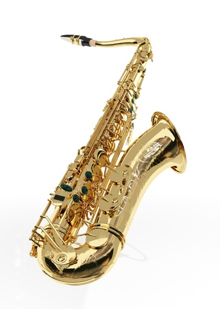 Alto sax against white background Stock Photo - 9509069