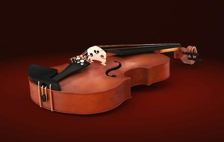 Classic violin on dark background photo