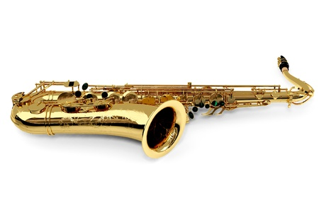 Alto sax against white background Stock Photo - 9509046