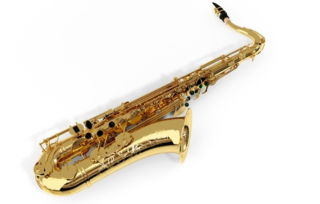 Alto sax against white background Stock Photo - 9509064