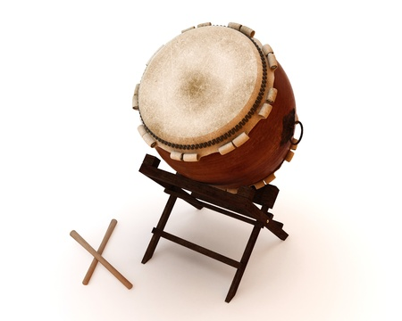 Taiko drums are traditional Japanese drums Stock Photo