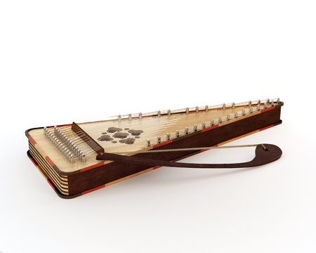 Psaltery under the white background photo