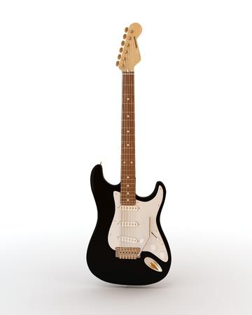 musicality: Fender stratocaster chitarra elettrica su sfondo bianco Archivio Fotografico
