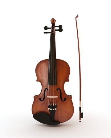 violines: Violín clásico aislado en blanco