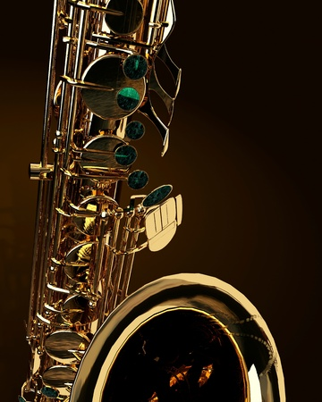 Alto sax against dark background Stock Photo - 10207481