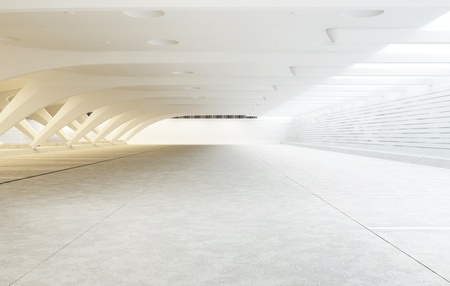 empty warehouse: modern architecture of the room