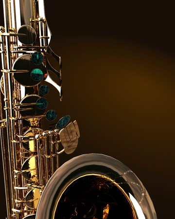 Alto sax against dark background photo