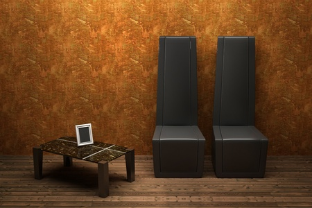 contemporary chairs in the room Stock Photo - 11789822