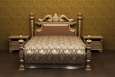 luxurious bed in the room Stock Photo - 11789826