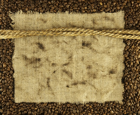 fabric textures: coffee beans and burlap