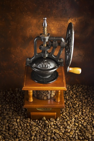outmoded: mechanical coffee grinder and grain Coffey