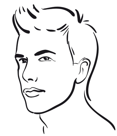 face of the young men (Vector Illustratio)